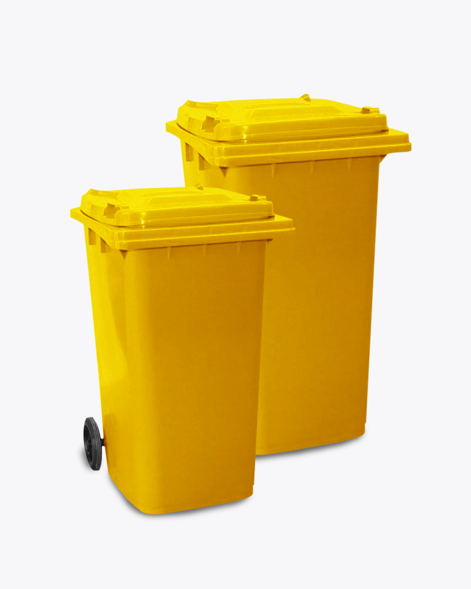 120-240L Yellow Wheelie Bin