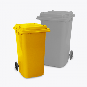 120L Wheelie Bin_yellow