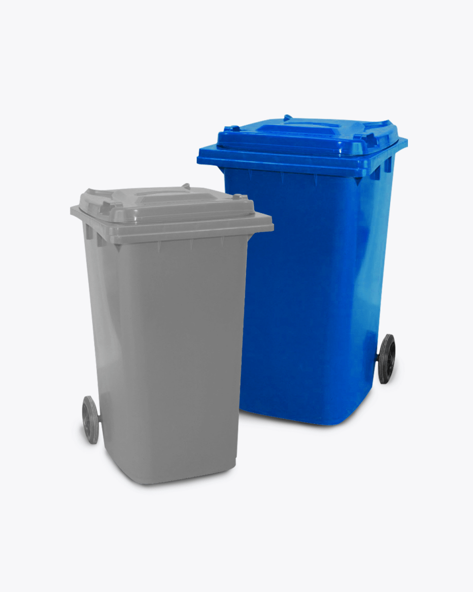 240L Blue Co-mingle Mixed Recycling Wheelie Bin