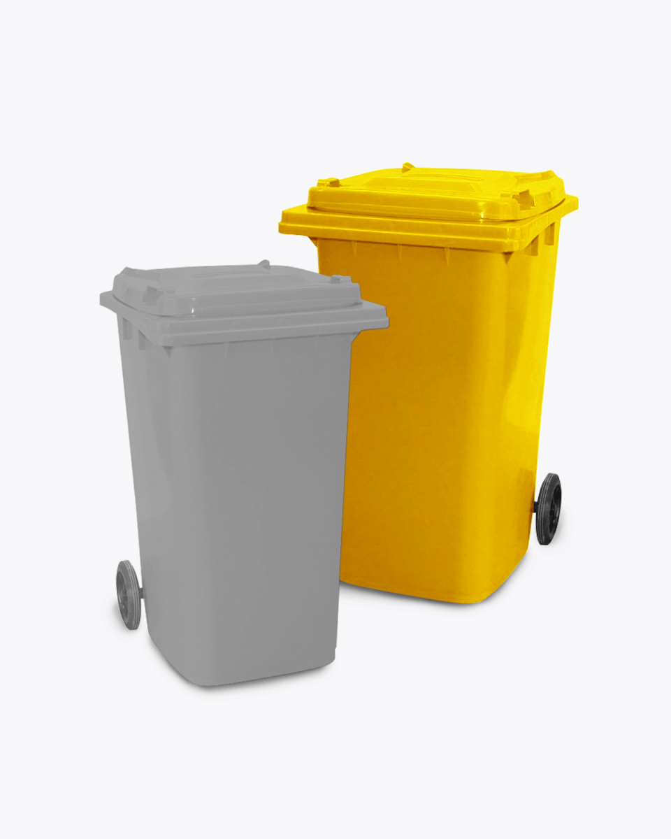 240L Yellow Co-mingle Mixed Recycling Wheelie Bin