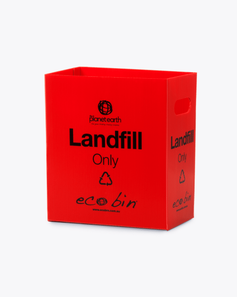 Landfill Office Waste Bin – 25L Red Ecobin
