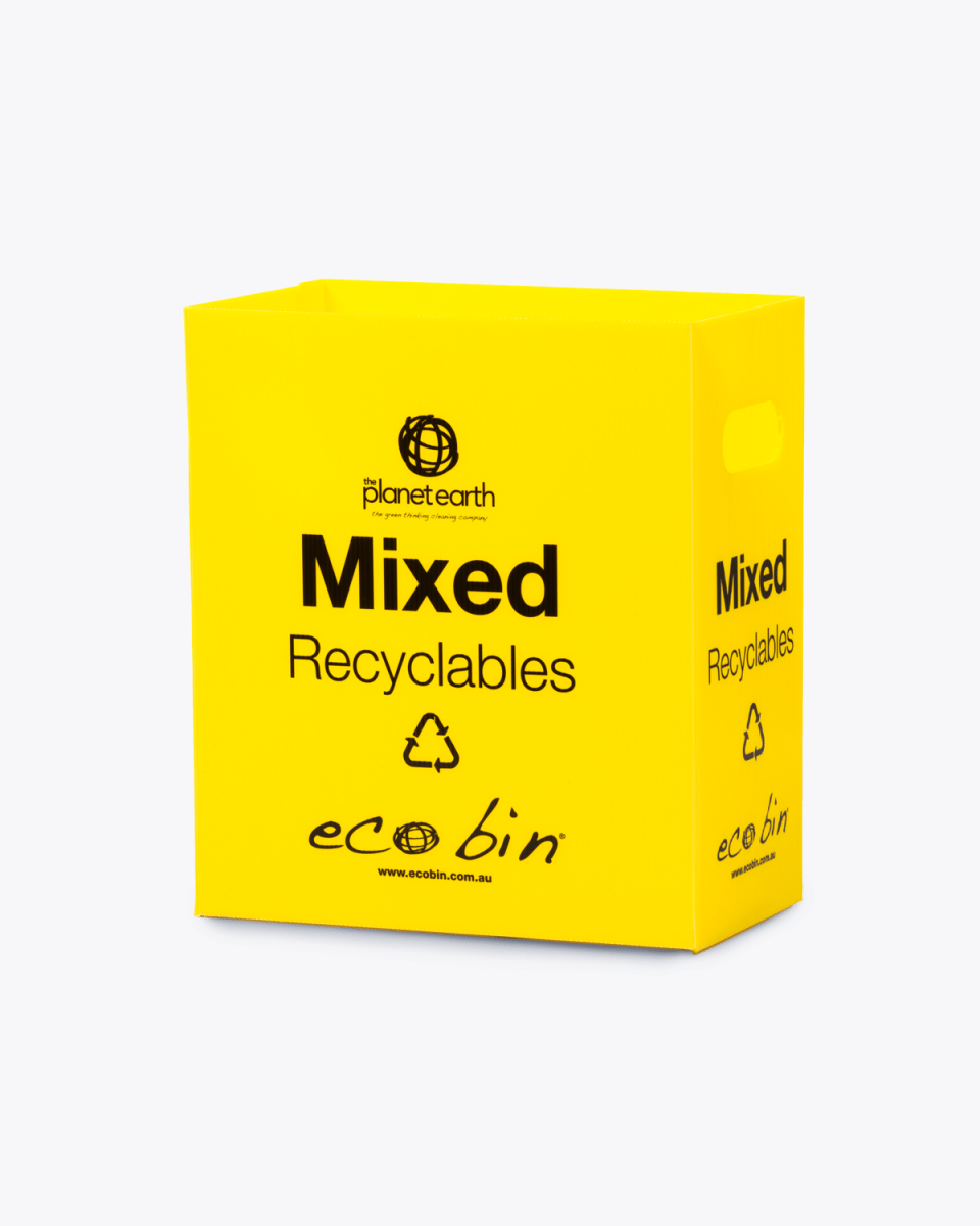 Co-mingle Mixed Recycling Bin – 25L Yellow Ecobin