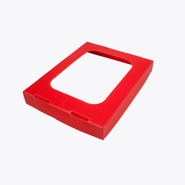 Landfill Office Waste Lid with Hole – 60L Red Ecobin