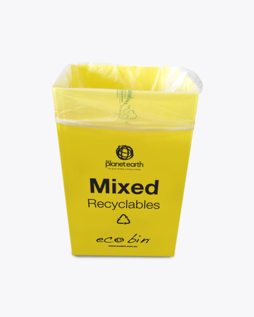 60L Degradable Bin Liners with Yellow Bin