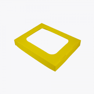 Co-mingled Mixed Recycling Lid with Hole – 60L Yellow Ecobin