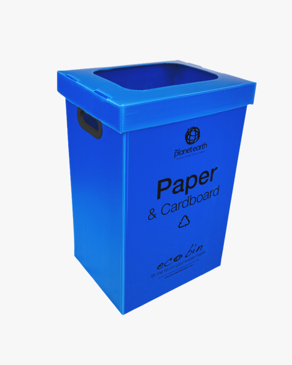60L Blue Degradable Bin Liners with Hole