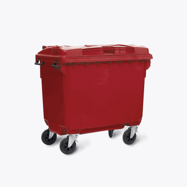 660L Red Co-mingle Mixed Recycling Wheelie Bin