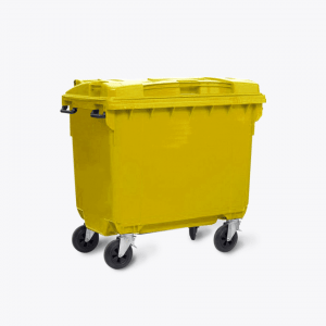 660L Yellow Wheelie Bins