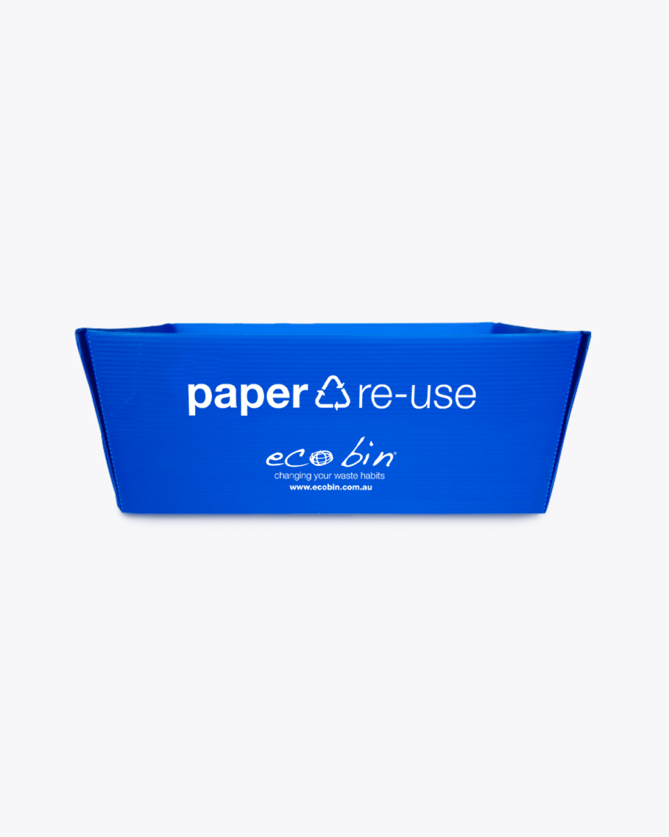 Paper Recycling Desktop A4 Re-use Tray – 7L Blue Ecobin