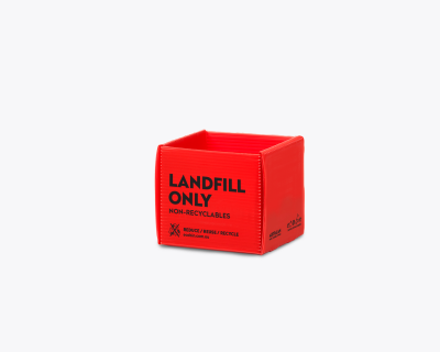 Red Landfill Recycling Bin for non-recyclables