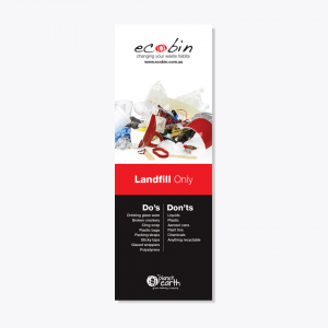 Red Landfill Non Recycling Laminated Educational Poster
