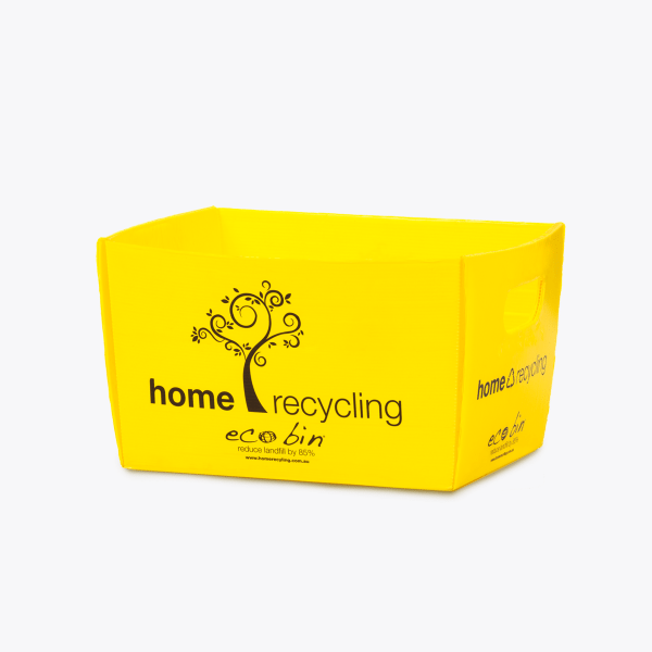 Yellow home co-mingle mixed recycling bin