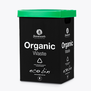 Organic Food Waste Compost Bin – 60L Black & Green Ecobin
