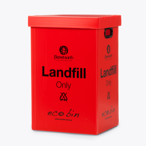 Landfill Office Waste Bin – 60L Red Ecobin
