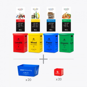 Office Waste Bin Kit Out for 20 Staff