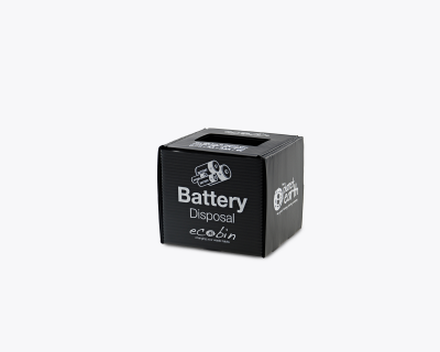 Black Battery Recycling Mini Bin 1 litre