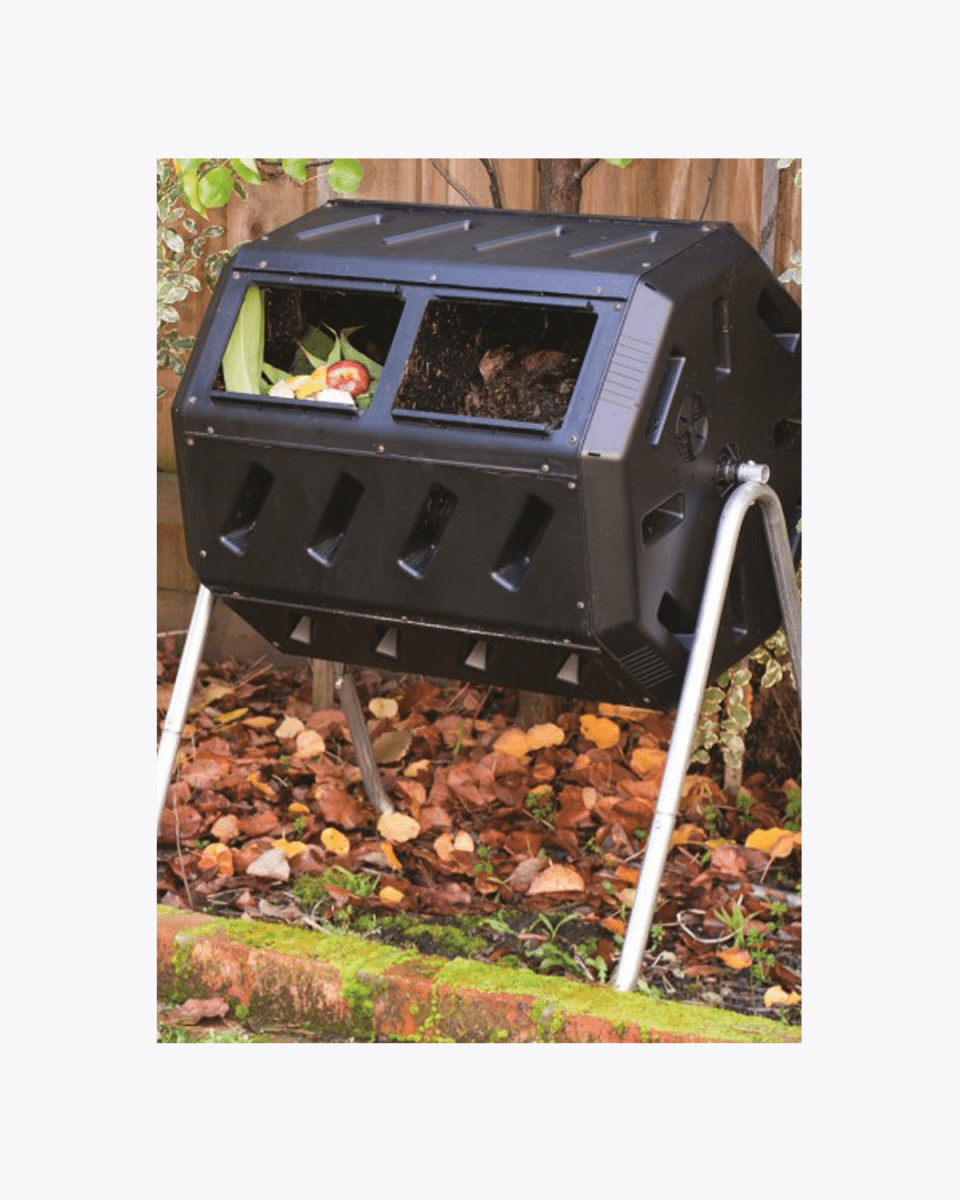 Organic Food Waste Garden Twin Composter – 140L ROTO