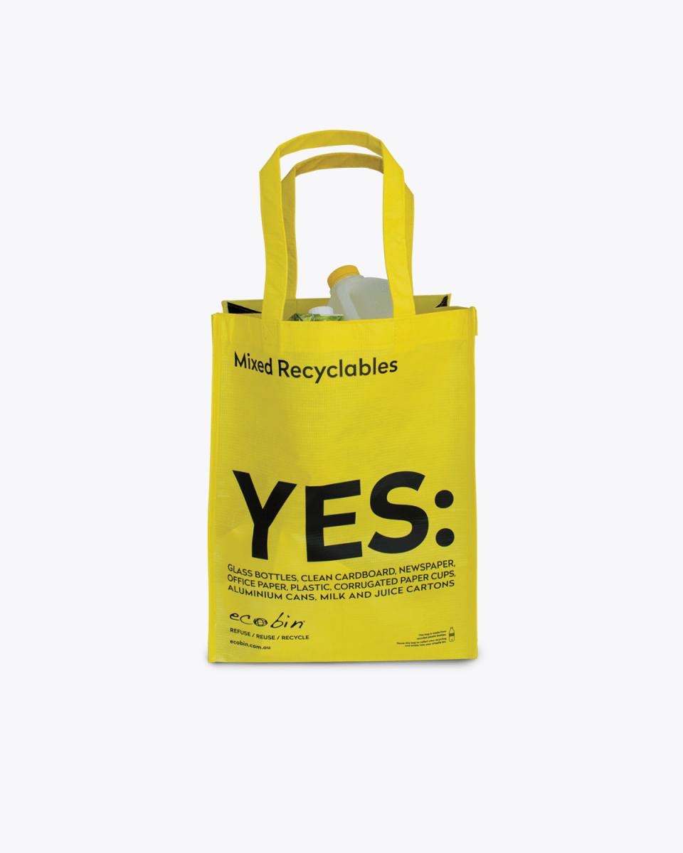 Mixed Recycling & Landfill Portable Waste Bags – Yellow Ecobin