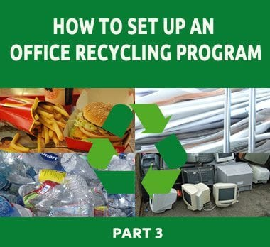 how to set up an office recycling program