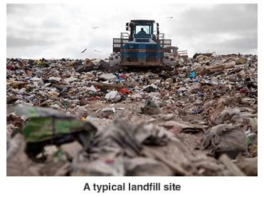 typical landfill site