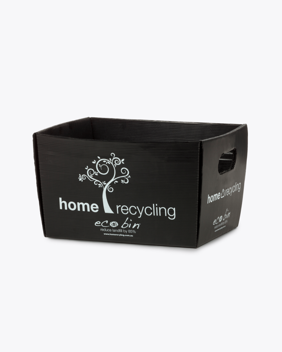 Co-mingle Mixed Recycling Bin – 12L Black Home Recycling Ecobin