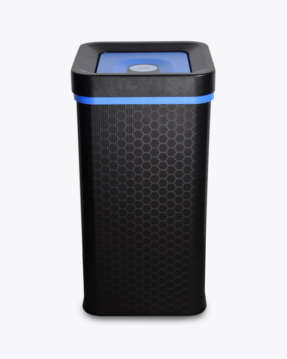 Blue paper and cardboard flip recycling bin 60 litres