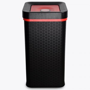 Red landfill office waste flip bin 60 litres