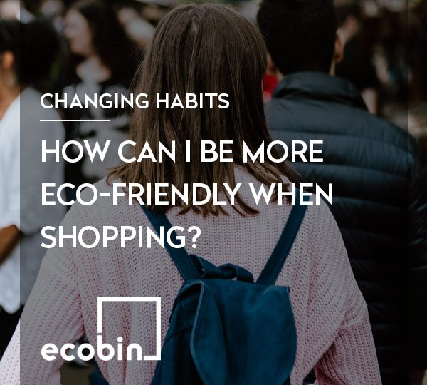 How can I be more eco-friendly when shopping?